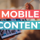mobile content header klein